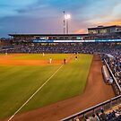 Tulsa Drillers Stadium Sunset - Oneok Stadium Tulsa Oklahoma by Gregory Ballos