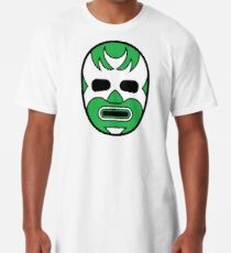 Lucha Libre // Mexican Wrestling Mask Green Demon Long T-Shirt