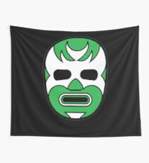 Lucha Libre // Mexican Wrestling Mask Green Demon Wall Tapestry