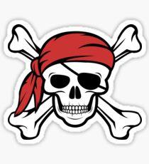 Jolly Roger Pirate Skull Sticker
