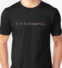 white type R heartbeat Unisex T-Shirt