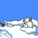 Bored Yeti Flicking Penguins into Water by etourist