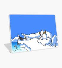 Bored Yeti Flicking Penguins into Water Laptop Skin