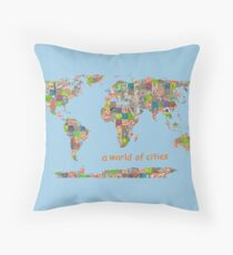 A world of cities I Throw Pillow