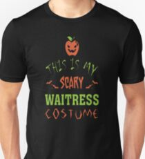 This Is My Scary Waitress Costume T-Shirt
