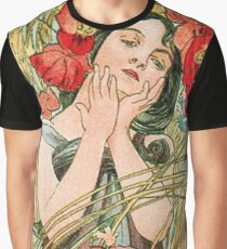 August from the 1889 Calendar by Alphonse Mucha Graphic T-Shirt