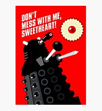Dalek - the Doctor employs a jammie dodger Photographic Print