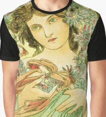 December from the 1889 Calendar by Alphonse Mucha Graphic T-Shirt
