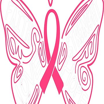 Breast Cancer Support Faith Love Hope Strenght by teerich