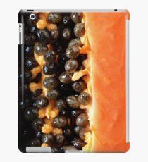 Papaya fruit halved macro iPad Case/Skin