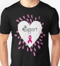 Breast Cancer Support Pink Ribbon T-Shirt
