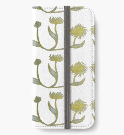 Gilded Painted Plants iPhone Wallet