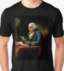 Benjamin Franklin 1767 oil on canvas by David Martin (2) Unisex T-Shirt