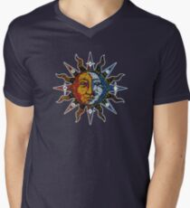Celestial Mosaic Sun/Moon Men's V-Neck T-Shirt