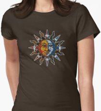 Celestial Mosaic Sun/Moon Womens Fitted T-Shirt