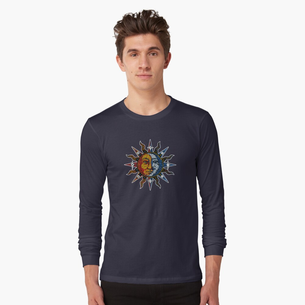 Celestial Mosaic Sun/Moon Long Sleeve T-Shirt