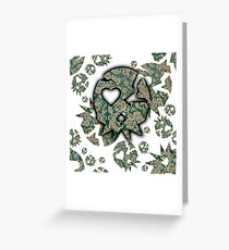 Vintage Old Skull By Funk You! Greeting Card