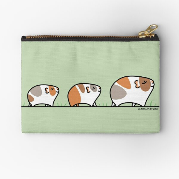 Mother Guinea-pig with Babies Zipper Pouch
