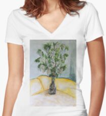 Lilac Women's Fitted V-Neck T-Shirt