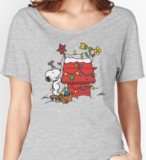SNOOPY CHRISTMAS HOUSE Women's Relaxed Fit T-Shirt