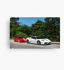 Ferrari 430 Scuderia & 360 Challenge Stradale Canvas Print