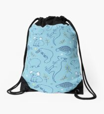 Adorable Aussie Critters - Australian Animals Drawstring Bag