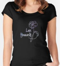 BTS - Love Yourself Black Version Women's Fitted Scoop T-Shirt