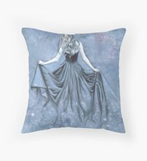Night and her Train of Stars Throw Pillow