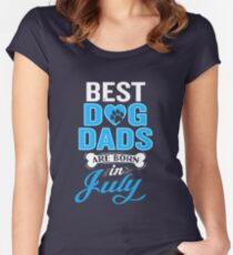 Best Dog Dads Are Born In June Funny Birthday Women's Fitted Scoop T-Shirt