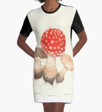 Mushrooms Graphic T-Shirt Dress