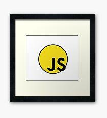 JS ES6 javascript Superhero Framed Print