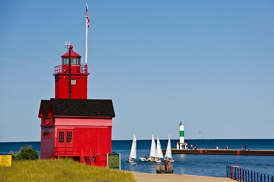 """""""Big Red"""" Lighthouse in Holland, Michigan by Robert Kelch, M.D."""