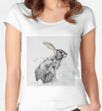 Hare Women's Fitted Scoop T-Shirt