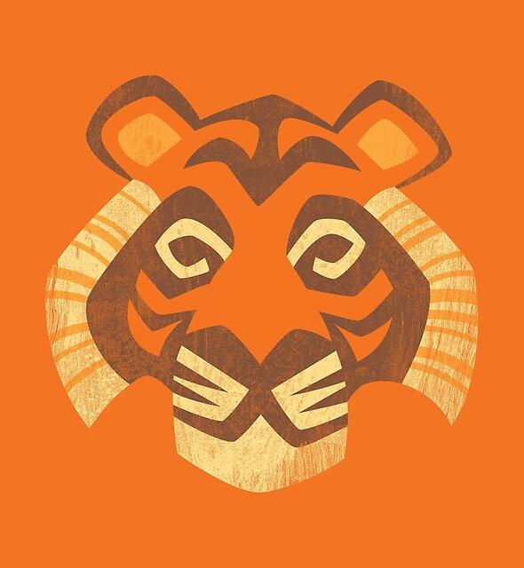Animal Rainbow: Tiger by Waynem79