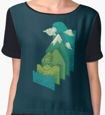 How to Build a Landscape Women's Chiffon Top