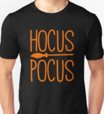 Hocus Pocus Broomstick Witch Spooky Ironic Halloween  T-Shirt