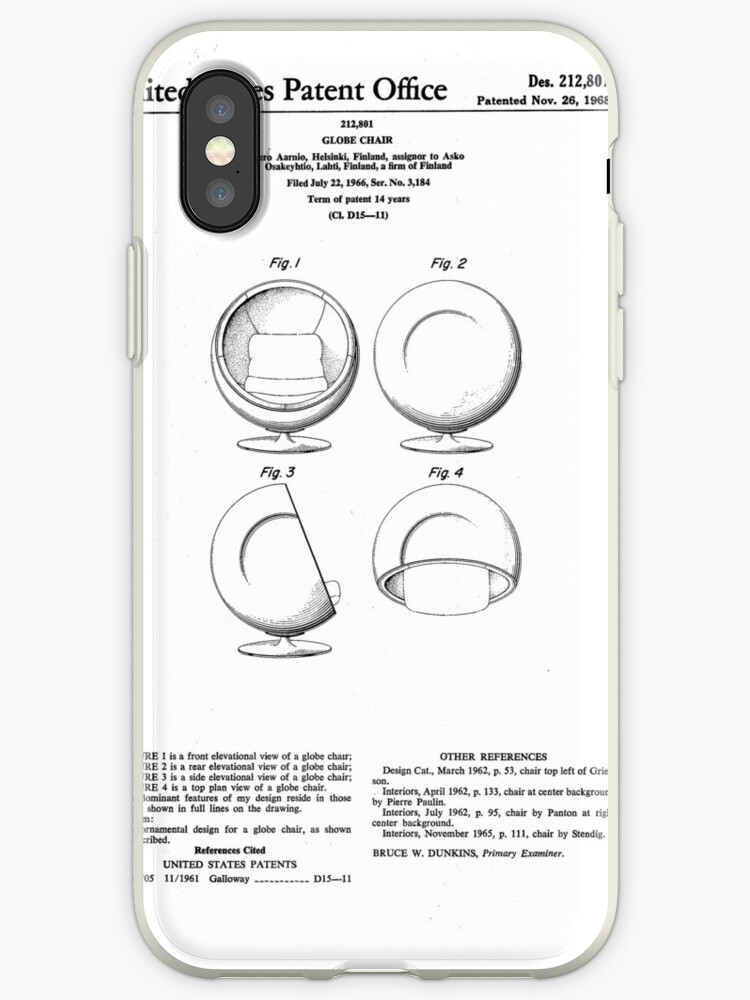 Sensational Eero Aarnio Ball Chair Patent Artwork Iphone Case By Fascinatingly Inzonedesignstudio Interior Chair Design Inzonedesignstudiocom
