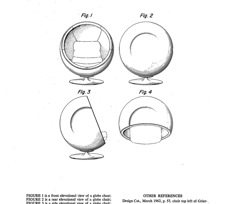 Eero Aarnio - Ball Chair - Patent Artwork\