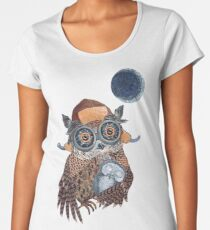 Owl mother Women's Premium T-Shirt