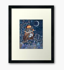 Owl mother Framed Print
