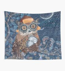 Owl mother Wall Tapestry