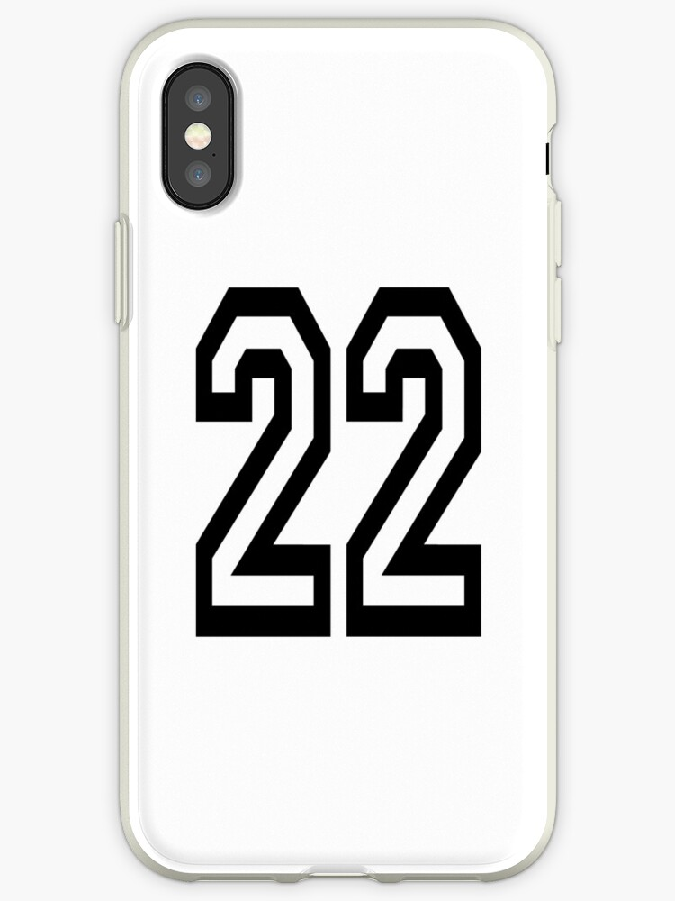brand new 885c4 2aa52 '22, TEAM, SPORTS, NUMBER 22, TWENTY, TWO, Twenty Second, Competition, '  iPhone Case by TOM HILL - Designer