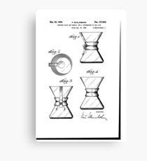 Chemex Coffee Maker - Original Patent Artwork Canvas Print
