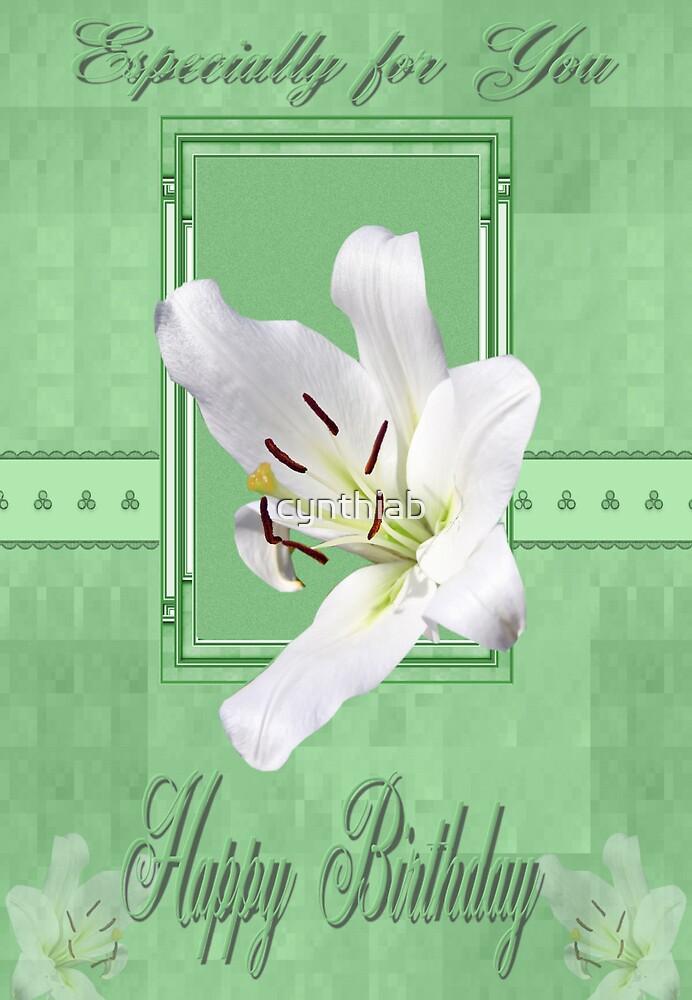 lily green card by cynthiab
