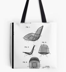 Eames - Wire Chair - Patent Artwork Tote Bag