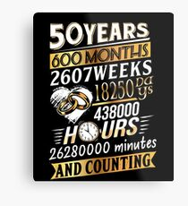 50th Anniversary Mr Mrs Matching Wedding Marriage Gift Metal Print
