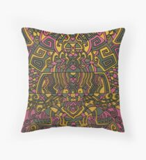 Himalayan Inspirations of Green and Yellow Throw Pillow