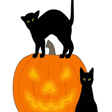 Halloween: Cat and Pumpkin 1 by Kathrinew