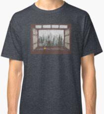 Foggy Forest Window    Cozy Fall Illustration Classic T-Shirt