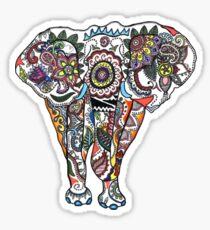 Illustrative Elephant Ganesh Drawing Sticker